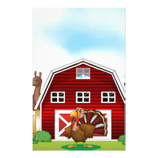 Farm animals personalised stationery