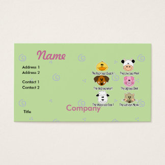 Farm Animals Sounds Business Card