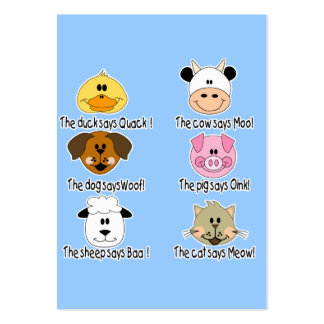 Farm Animals Sounds Large Business Cards (Pack Of 100)