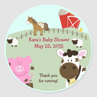 Farm Babies Baby Shower Favor Sticker