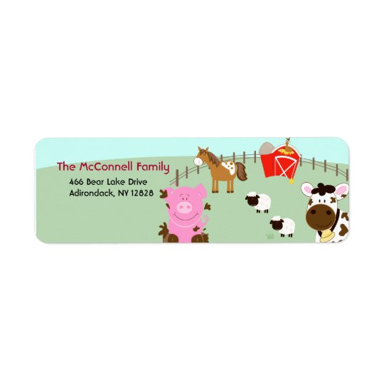 Farm Babies Barnyard PRINTABLE ADDRESS LABELS