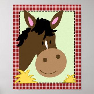 FARM BABIES HORSE 8x10 BABY NURSERY ROOM PRINT