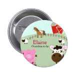 Farm Babies NAME TAG Personalised Button