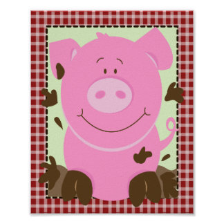 FARM BABIES PIG 8x10 BABY NURSERY ROOM PRINT