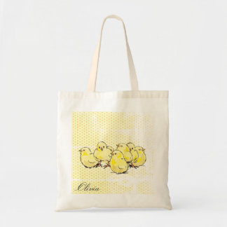 farm baby chicks, personalised Tote bag