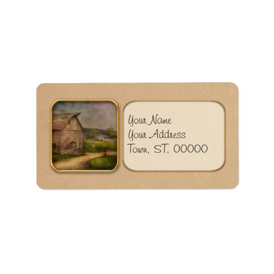 Farm - Barn - The old grey barn Label