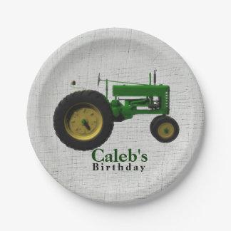 Farm Barnyard Tractor Birthday Party Custom 7 Inch Paper Plate