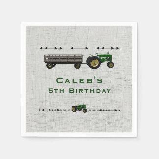 Farm Barnyard Tractor Birthday Party Favor Custom Disposable Serviette