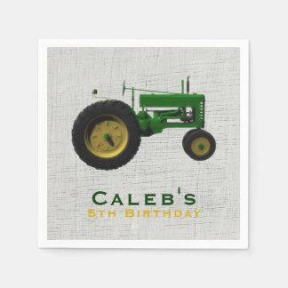 Farm Barnyard Tractor Birthday Party Favor Custom Paper Napkins