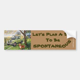 """Farm"" Bumper Sticker with Let's Plan A..."