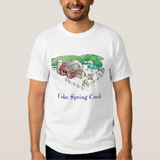 farm, Cedar Spring Creek Tee Shirt