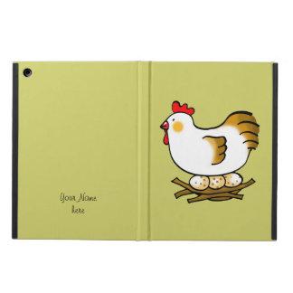 farm chicken and eggs iPad air cover