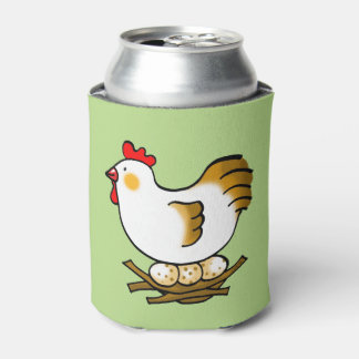 farm chicken hen and eggs can cooler