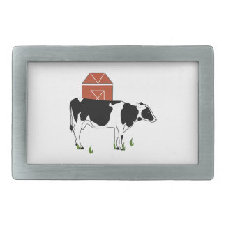 Farm Cow Rectangular Belt Buckles