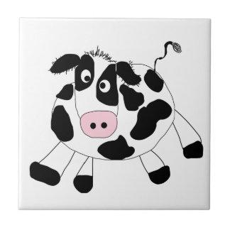 Farm Cow Small Square Tile