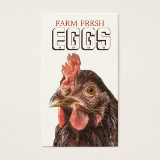 Farm EGGS Heritage Layer Hen Business Card