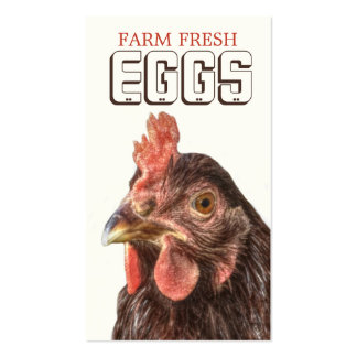 Farm EGGS Heritage Layer Hen Pack Of Standard Business Cards