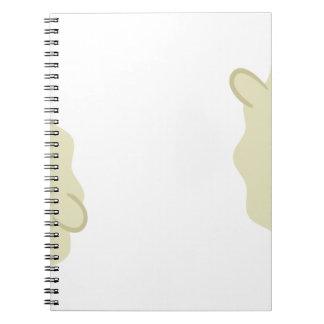 farm emojis - lamb notebook