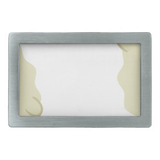 farm emojis - lamb rectangular belt buckle