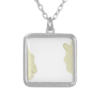 farm emojis - lamb silver plated necklace