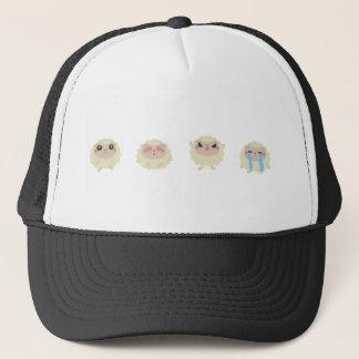 farm emojis - lamb trucker hat