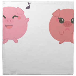 farm emojis - pig napkin