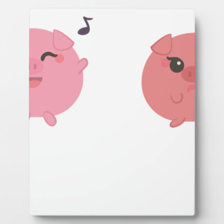 farm emojis - pig plaque