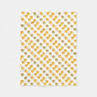 farm emojis - they chicken fleece blanket