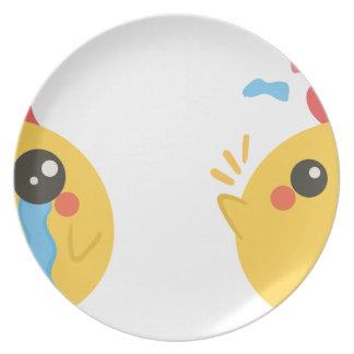 farm emojis - they chicken plate