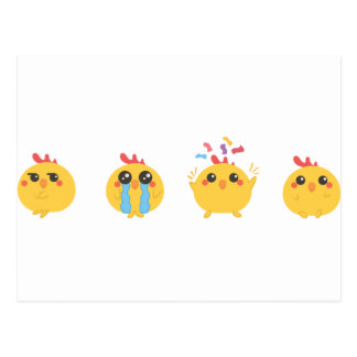 farm emojis - they chicken postcard