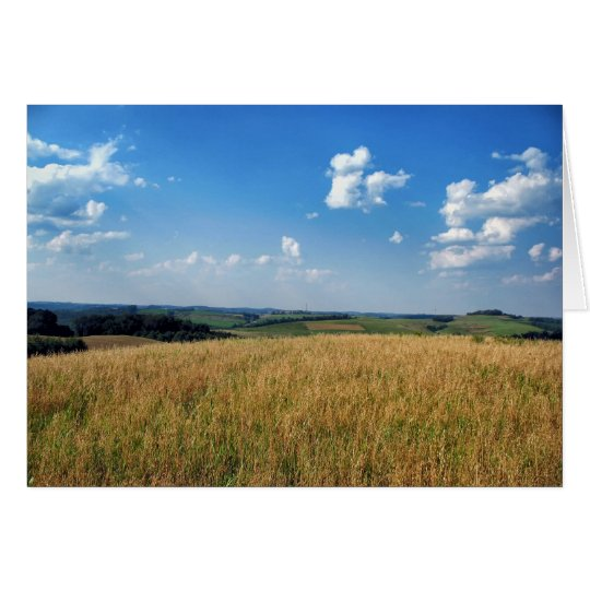 Farm Fields View Card