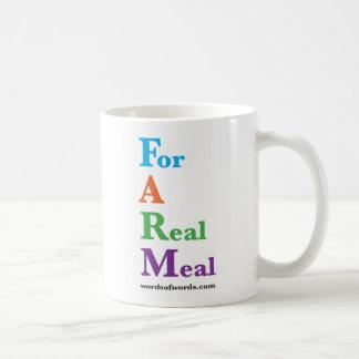"""FARM: """"For A Real Meal"""" Mug"""