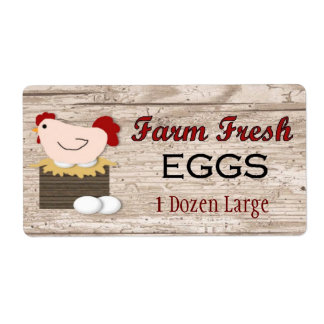 Farm Fresh Eggs Product Label