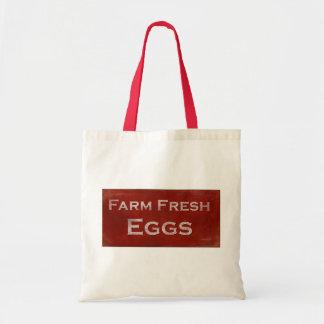 Farm Fresh Eggs Rustic Sign Bag