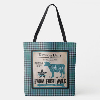 Farm Fresh Milk Personalized Tote