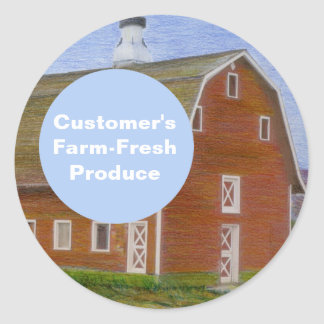 Farm-Fresh Produce Template Classic Round Sticker