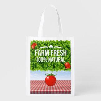 Farm Fresh Reusable Grocery - Gift - Treat Bag Grocery Bags