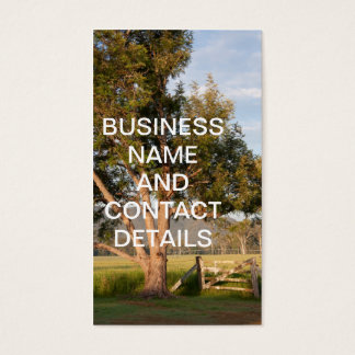 Farm Gate and Tree with Hills Business Card