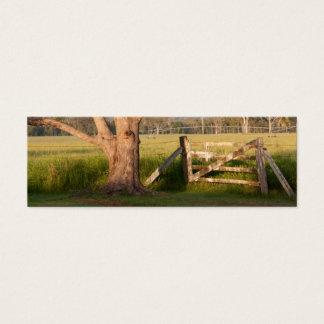 Farm Gate and Tree with Hills Mini Business Card
