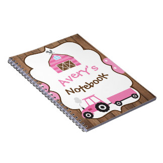 Farm girl notebook, school notebook