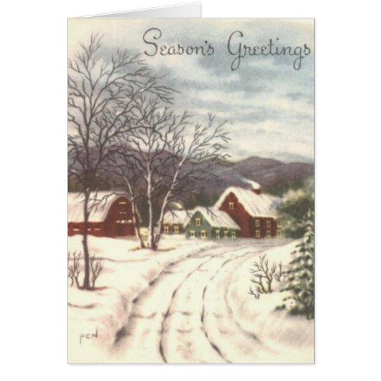 Farm Holiday Card
