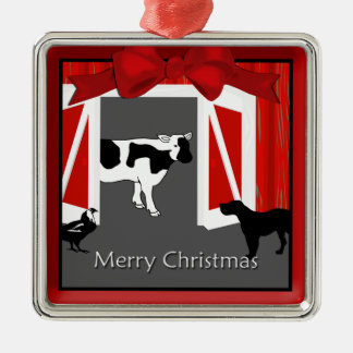 Farm Homestead Barn Animals Premium Ornament