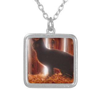 Farm Kitten Silver Plated Necklace