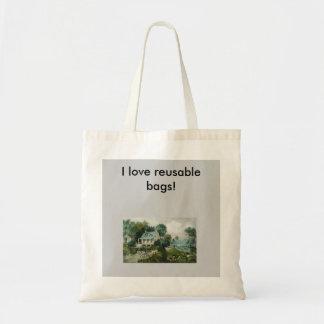 Farm life vintage reusable bag