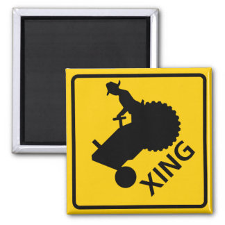 Farm Machinery Crossing Highway Sign Fridge Magnet