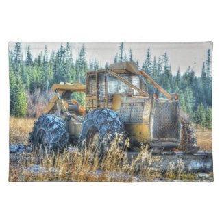 Farm Machinery, Tractor, Back-Hoe, Farm Vehicle Placemat
