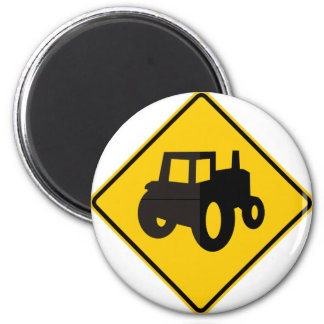 Farm Machinery Traffic Highway Sign 6 Cm Round Magnet
