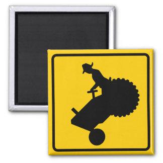 Farm Machinery Traffic Highway Sign Fridge Magnets