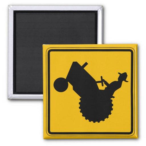 Farm Machinery Traffic, Traffic Warning Sign, USA Fridge Magnet