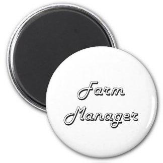 Farm Manager Classic Job Design 2 Inch Round Magnet